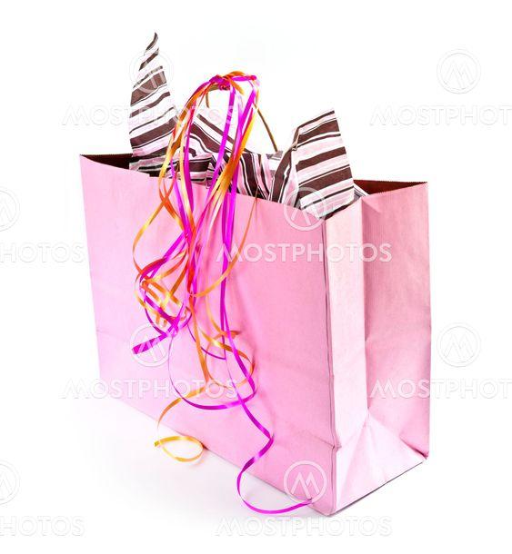 Vaaleanpunainen laukku