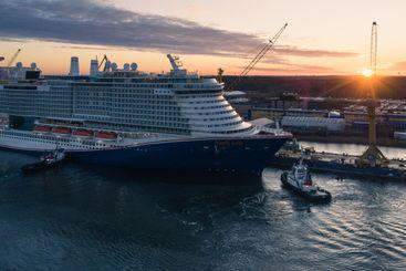 Mardi Gras cruise ship in Meyer Turku shipyard