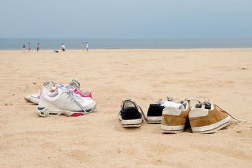 Sneakers on the Beach