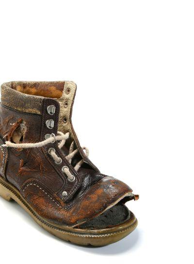 Old and broken shoe.
