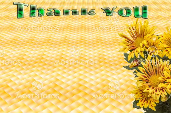thank you ,decorative card with thanks,space for text entry