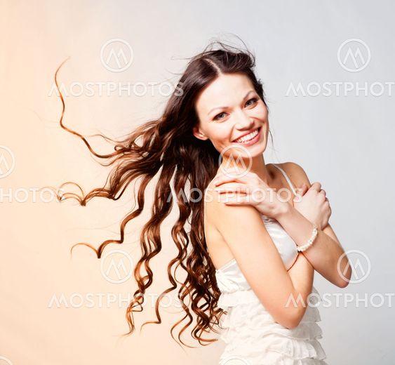 Brunette long hair girl