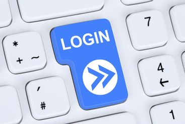 Login button submit on computer