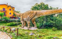 Diplodocus dinosaur inside a dino park in southern Italy