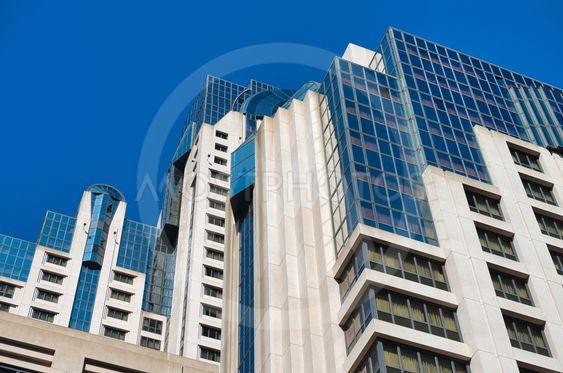 Modern city buildings. Metropolis architecture