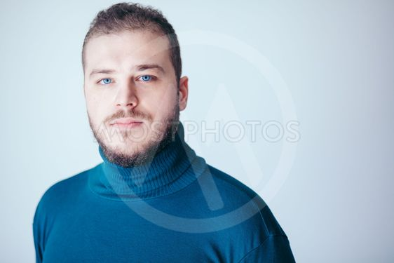 Portrait of a handsome bearded young man