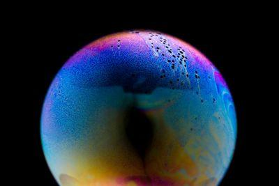 Shampoo bubble in macro
