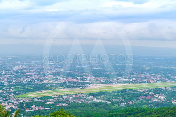 Aerial view of a city Chiang Mai, Thailand .