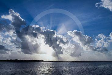 Magnificent Sunbeam Cloudscape.