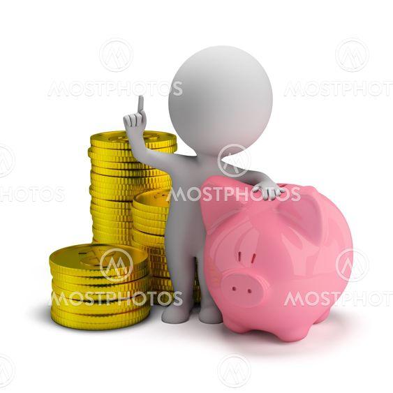 3d small people - savings