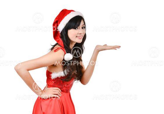 Santa naisten esittää jotain käsillä