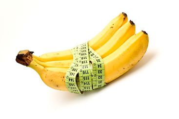 banana with a tape measure