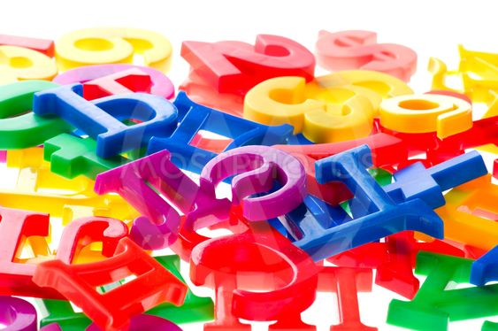 plastic letters and numbers macro