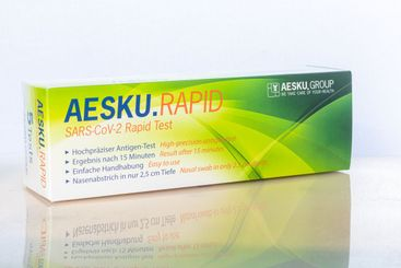 Package of Covid-19 Ag rapid antigen test kits