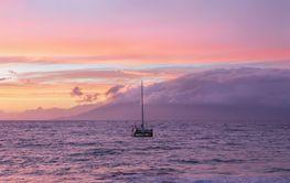 Sunset at Maui, Hawaii.