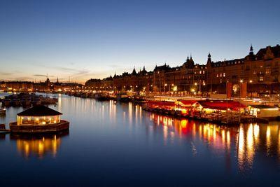 Night image, Stockholm.