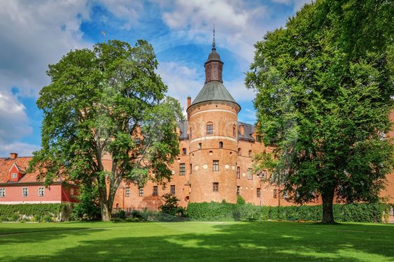 Gripsholm castle in the idyllic small town of Mariefred