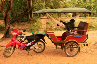 Tuk tuk in Angkor area, Siem Reap, Cambodia