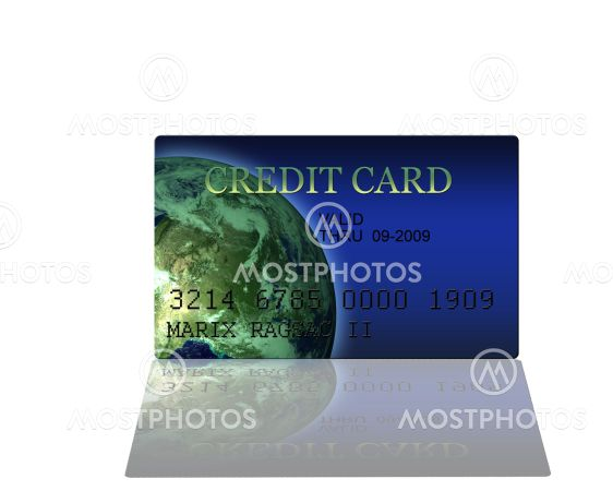 Render of Credit Card High Resolution 3D