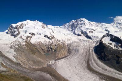 Gorner Glacier, Gornergrat, Switzerland.