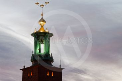 Stockholm city-hall tower.