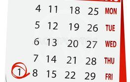 icon calendar for June 1 2018