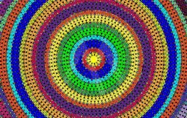 many colored background image of abstract circles