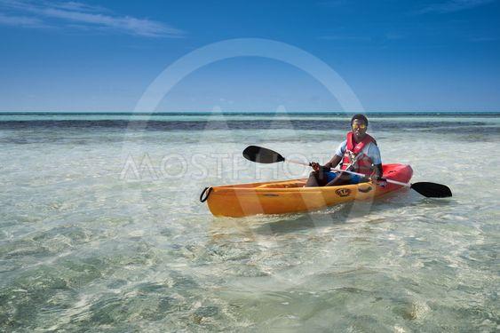 Man i kanot