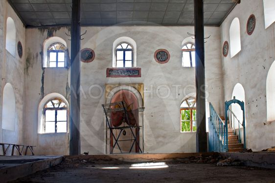 Old abandoned Greek, Turkish mosque in Doganbey Aydin...