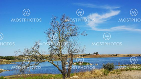 Landscape of Guadiana river .