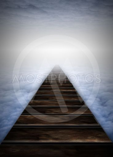 Path into clouds