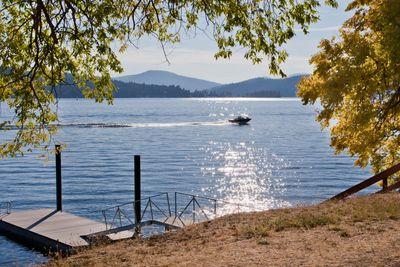 Sun Sparkles on Lake