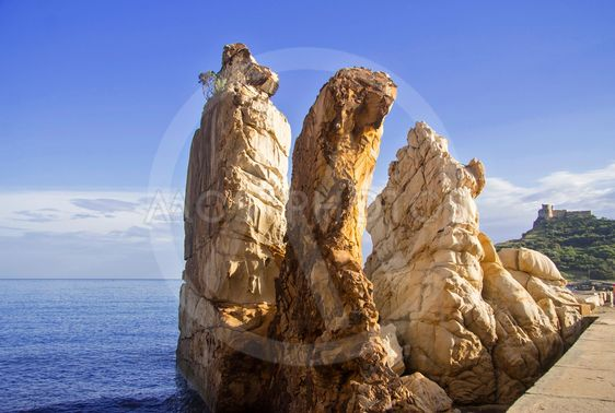 Rocks on the seashore of Tabarca, Tunisia