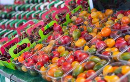 colorful cherry tomatoes at the market