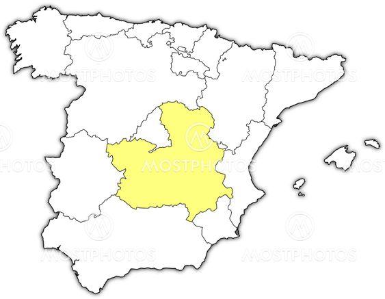 Map Of Spain La Mancha.Map Of Spain Castile La Ma By Steffen Hammer Mostphotos