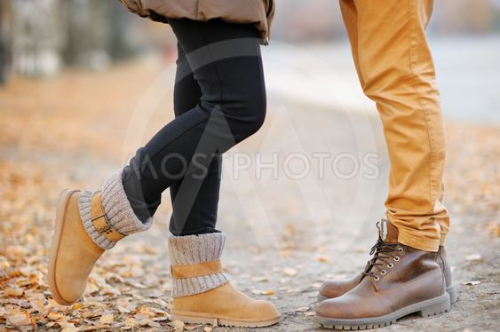 Male and female legs during a date