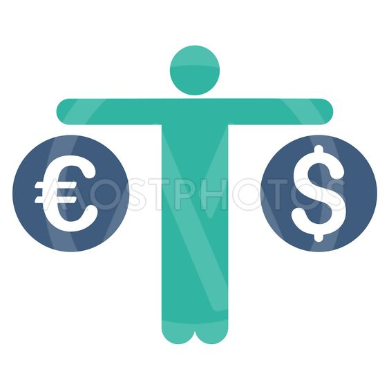 Person Compares Currency Flat Vector Icon