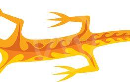 Tribal Lizard Orange