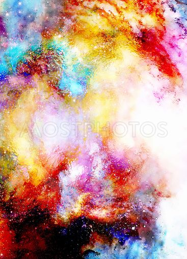 Cosmic space and stars, cosmic abstract background and...