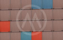 coloured cargo containers