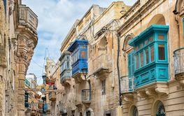Old street in Rabat, Malta.