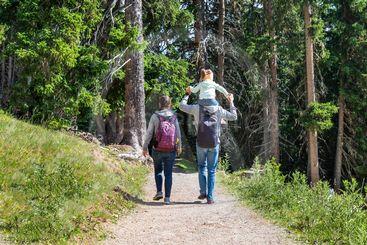 Family Walking Hiking Trail