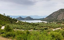 View on lake Vouliagmeni (district Loutraki,Greece)