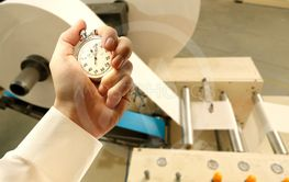Process of paper products manufacturing and stopwatch in...