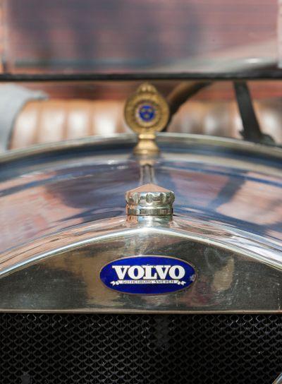 Emblemet på en gammal Volvo