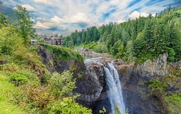 Snoqualmie Lodge and Falls