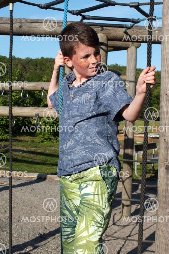 Vito on playground in denmerk