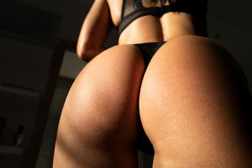 Woman lingerie underwear. Female sexy naked ass. Nude...