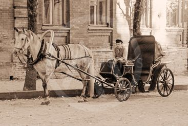Old horse carriage.