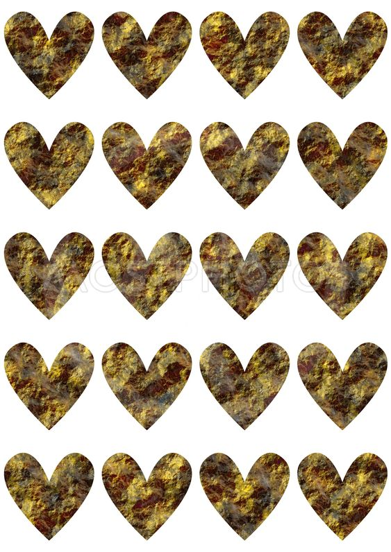 Templates with hearts for print